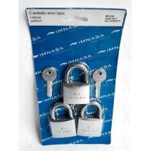 Imnasa Conjunto 3 Cadeados Inox 40mm