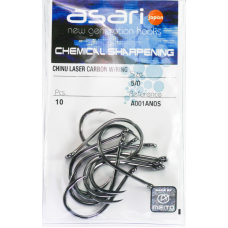 Asari Chinu Laser Carbono Argola A001ANOS - Nº.5/0