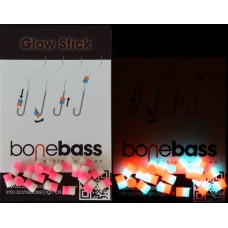 Bone Bass Glow Stick Mini 4mm Bicolor - Verde/Laranja