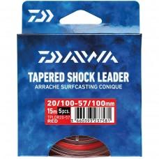 Fio Daiwa Cônico Shock Leader 5x15mt - Vermelho