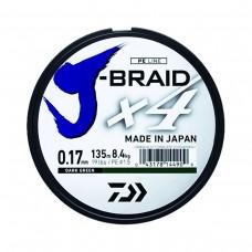 Fio Daiwa J-Braid 4X Verde - Bob.135mt