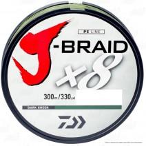 Fio Daiwa J-Braid 8X Verde - Bob.300mt