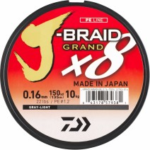 Fio Daiwa J-Braid Grand 8X Multicolor - Bob.300mt