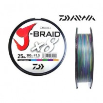 Fio Daiwa J-Braid 8X Multicolor - Bob.300mt