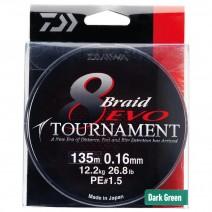 Fio Daiwa Tournament 8 Braid Evo Chartrouse-Bob.135mt