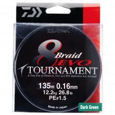Fio Daiwa Tournament 8 Braid Evo Verde-Bob.300mt
